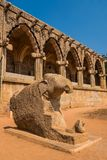 Ancient ruins of Hampi. Ancient 14th century ruins at the elephant stables inside the royal enclosure of Hampi Stock Image