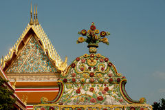 Ancient Thai art in old temple in Bangkok . Royalty Free Stock Photography
