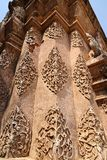 Ancient Thai Bas-Relief. In north of Thailand Royalty Free Stock Photos