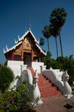 Ancient Thai church in temple . Royalty Free Stock Images