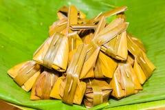 The ancient Thai dessert Kanom Suad Sai. Royalty Free Stock Image