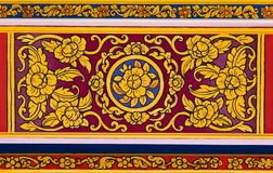Ancient Thai floral painting Royalty Free Stock Photos