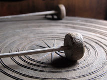 Ancient Thai gong. Abstract accessories alarm ancient Stock Photo