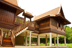 Ancient Thai home Stock Images