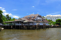Ancient Thai house. An ancient Thai house on Chaopraya river in Bangkok, Thailand Royalty Free Stock Images