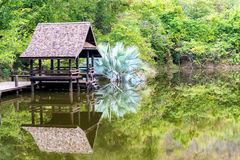 Ancient thai house Royalty Free Stock Photos