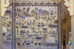 Ancient Thai Isan mural painting Stock Image