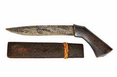 Ancient Thai Knife Stock Photography