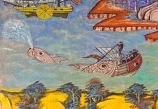 Ancient Thai mural Royalty Free Stock Photo