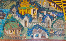 Ancient Thai mural Royalty Free Stock Photography