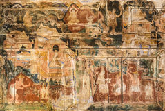 Ancient Thai mural painting art Stock Image