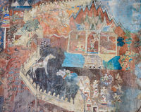 Ancient Thai mural painting Royalty Free Stock Photo