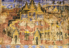 Ancient Thai mural painting Stock Images