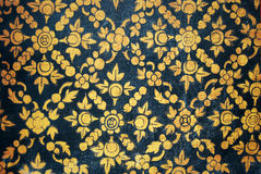 Ancient Thai Pattern. Background on wall in Thailand Buddha Temple stock illustration