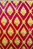 Ancient Thai Pattern on Buddha Temple Wall Stock Images
