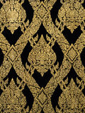 Ancient Thai pattern on door  temple Royalty Free Stock Photography