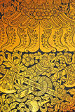 Ancient Thai pattern on wall. In Thailand Buddha Temple royalty free stock image
