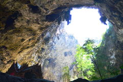 Ancient Thai pavilion in the cave Stock Photography