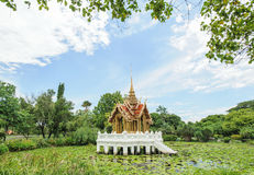 Ancient thai pavilion Royalty Free Stock Image