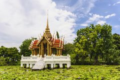 Ancient thai pavilion in thailand. Royalty Free Stock Image