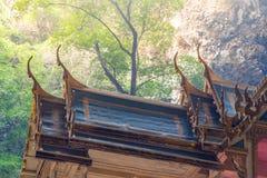 Ancient Thai shrine synbolizing bhuddism, peace, balance and med Royalty Free Stock Photo