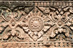 Ancient thai stone crave pattern Stock Photo
