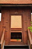 Ancient thai style doorway Royalty Free Stock Image