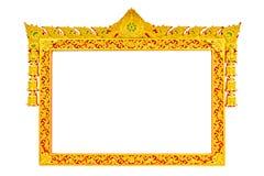Ancient thai style sculpture frame Stock Photo