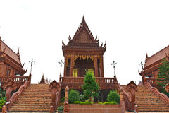 Ancient Thai temple, made from glazed tile Royalty Free Stock Images
