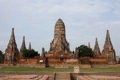 Ancient Thai temple. Wat Chai Watthanaram in Ayutthaya, Thailand Stock Photo