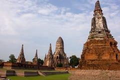 Ancient Thai temple. Wat Chai Watthanaram in Ayutthaya, Thailand Stock Image