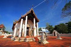 Ancient Thai temple at wat Prasart Royalty Free Stock Image