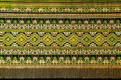 Ancient thai woven cloth Stock Photos