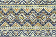 Ancient thai woven cloth Stock Photography