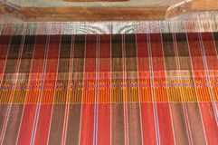 Ancient thai woven cloth. Stock Photos
