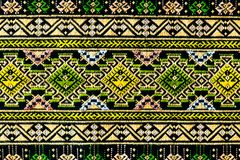 Ancient thai woven cloth, pattern1 Stock Image