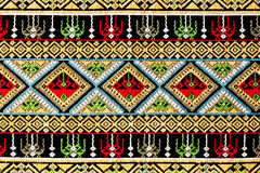 Ancient thai woven cloth, pattern2 Royalty Free Stock Photos