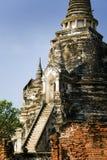 Ancient thailand. Temples and pagodas in Ayutthaia, ancient capital of Thai kingdoms, near Bagkok Stock Photos