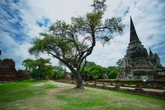 Ancient of Thailand temple. Old Thailand temple Stock Photo