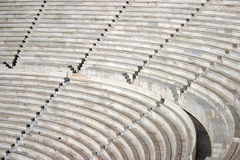 Ancient theater. Sitting rows stock photography