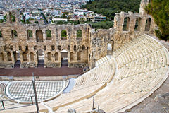 Ancient theater at Acropolis of Athens Royalty Free Stock Photos