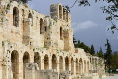 Ancient theater of Athens entrance Stock Photos