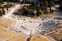 Ancient theater - Athens - Greece Royalty Free Stock Photography