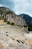 Ancient theater, Delphi, Greece Royalty Free Stock Photography
