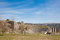 The ancient theater at Dodoni Stock Photography
