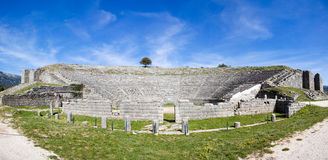 The ancient theater at Dodoni Stock Photos