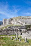The ancient theater at Dodoni Royalty Free Stock Photo