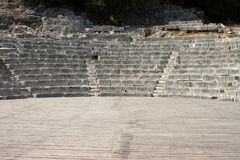 Ancient theater with empty stage background presentation concept Royalty Free Stock Images
