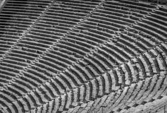 Ancient theater Epidaurus, Argolida, Greece rows in B&W Stock Photos
