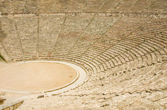 Ancient theater in Epidaurus, Greece Stock Images